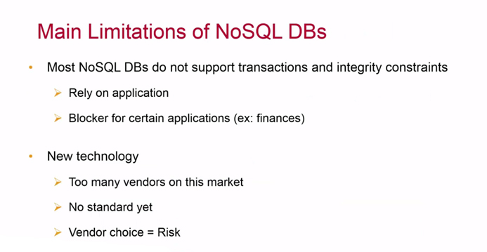 Main Limitations of NoSQL DBs